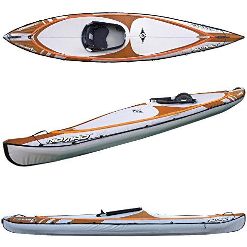 (BIC Sport NOMAD HP1 Inflatable Kayak, Orange/Grey, 14-Feet 5 x 31.5-Inch x 440-Pound Capacity)