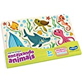 Encaixando Animais (2 Modelos, Fundo do Mar e Savana), Toyster Brinquedos, Colorido