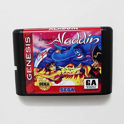 Value★Smart★Toys - Aladdin 16 bit MD Game Card for Sega Mega Drive for Genesis (Best Mega Drive Games)