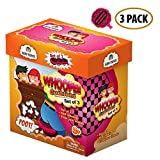 Whoopee Cushion Self Inflated 7'' Set of 3 Gift Box Fart Prank Gag Novelty Trick Joke Toy for Kids Children Adults Office Home or Party
