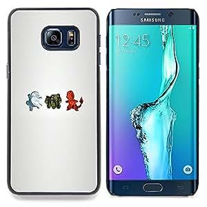 P0Kemon Characters Caja protectora de pl¨¢stico duro Dise?ado King Case For Samsung Galaxy S6 Edge Plus