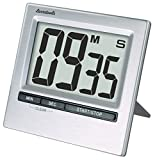 Lavatools KT2 Brushed Stainless Steel Digital Kitchen Timer & Stopwatch, Large Digits, Loud Alarm, Magnetic Stand (Stainless)
