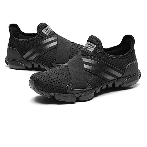 Black Men Slip on Mesh Walking Gomnear Running Sneaker Breathable Shoes Lightweight Summer qayFwB1f