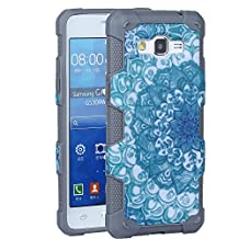 Galaxy Grand Prime Case, Rosepark Grand Prime Case, [Shock Absorption] Hybrid Dual Layer Armor Defender Protective Case Cover for Samsung Galaxy Grand Prime(Grey)