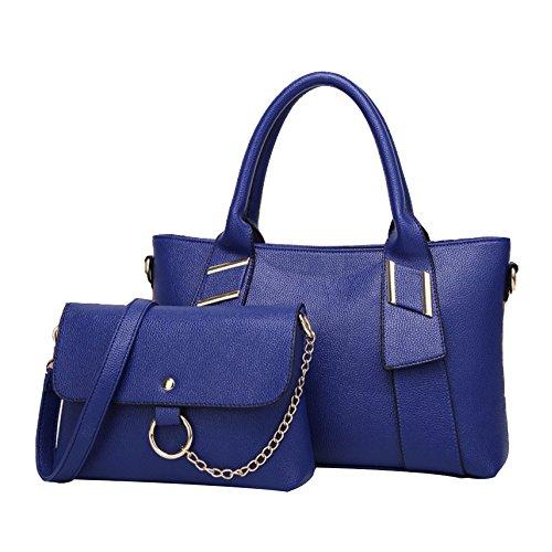 Señora Bolso Hombro Bolso De Mensajero Moda Casual Viaje Portátil Bolso Blue