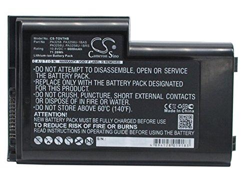 Cameron Sino Replacement Battery Toshiba Dynabook V7, Satellite Pro 6300, Satellite Pro M10, Satellite pro M15, Tecra M1
