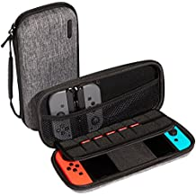 Nintendo Switch Case, Caseology [16 Game Holder] Portable Hard Travel Carry Case Protective EVA Shell for Nintendo Switch Console/Accessories (2017) - Gray