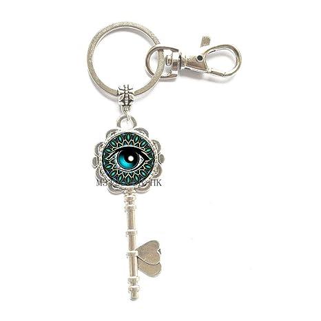 Amazon.com: Llavero con ojo verde, llavero con ojo de ojo ...