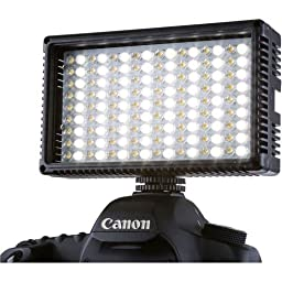 Flashpoint 144 Dimmable Bi-Color High-Power LED Camera Light Panel - Lighting For Video For DSLR Cameras