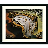 """Framed Art Print 'Melting Watch' by Salvador Dali: Outer Size 26 x 22"""""""