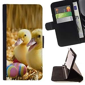 Momo Phone Case / Flip Funda de Cuero Case Cover - Patitos Felices;;;;;;;; - Sony Xperia Z1 L39