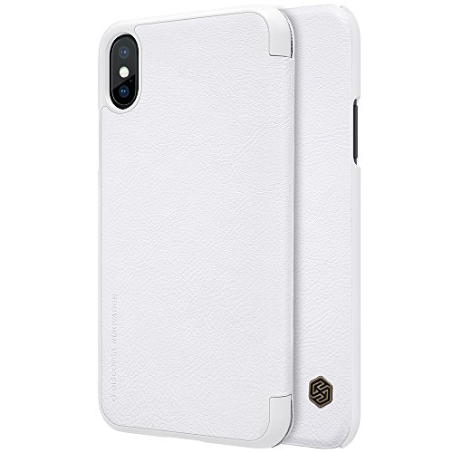 iPhone X Case,Mangix Flip PU Leather Wallet Protection Shell Case with Card Slot for Apple iPhone X (White) (Screen Spigen Protector Lg G3)