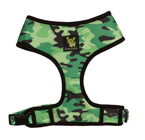 Control Dog Harness 4-6 lbs; No Pull & No Choke Design, Luxurious Padded Vest, Eco-Friendly, for Puppies and Dogs (XS, Camo) ()
