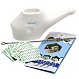 Traveller's Neti Pot For Nasal Cleansing WITH 10 Sachets Neti Salt + 1 Cleaning Brush by HealthGoodsIn