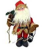 Babbo Natale Pupazzo Animato con luci e suono da 40 cm