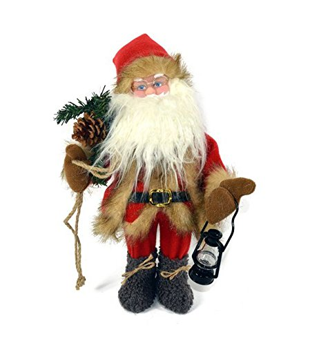Immagini Babbo Natale Animate.Babbo Natale Pupazzo Animato Con Luci E Suono Da 40 Cm