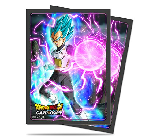 Ultra Pro Official Dragon Ball Super God Charge Vegeta Standard Deck Protector Sleeves (65ct)