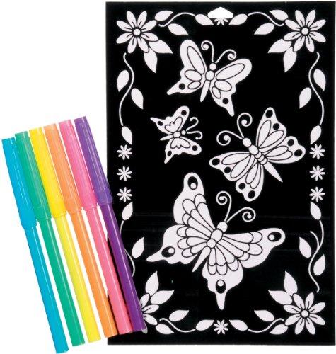 Poster Butterfly Velvet (Color-In Velvet Poster 6