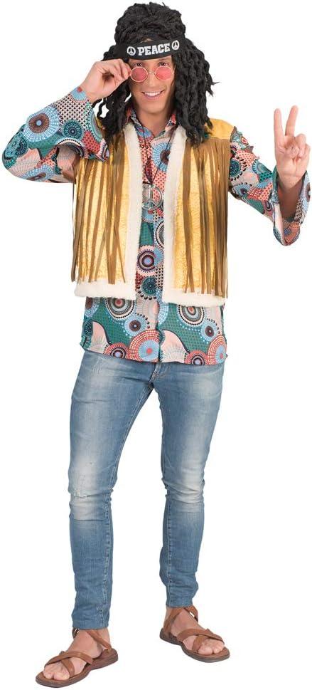 Das Kostümland Disfraz de Hippie Retro, Brian con Flecos para ...