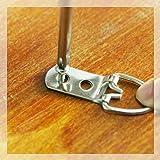 Rustark 60-Pcs Heavy Duty D Ring Picture Hangers