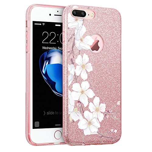 Price comparison product image iPhone 7 Plus Case Hard PC Soft TPU Luxury Bling Bling Protective for Apple 7 Plus (6, iPhone 7 Plus)