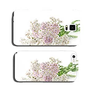 yarrow herb with white and pink flowers on a white background cell phone cover case Samsung S6