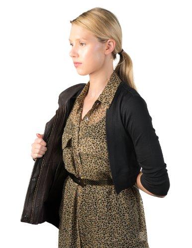 Secret Sweater Women's Packable 'Secret' Layering Cardigan M Black by Secret Sweater (Image #4)