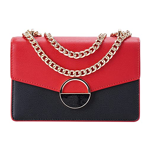 Krmajqm Chain Crossbody Bags For Women Small Shoulder Bag Leather Shoulder Bag Black clutch Tote purse