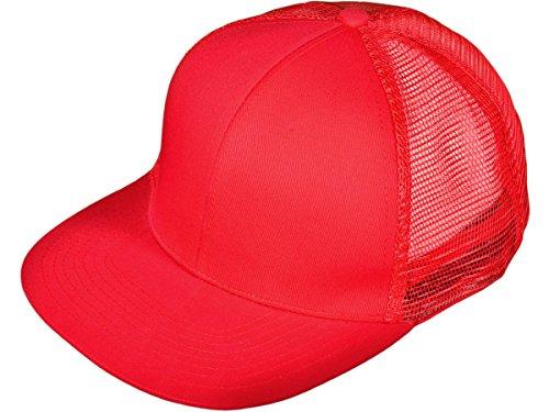 bk-caps-flat-bill-snapback-mesh-trucker-caps-hats-red-21513