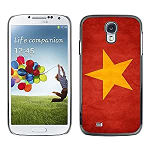 LJF phone case Shell-Star ( National Flag Series-Vietnam ) Snap On Hard Protective Case For Samsung Galaxy S4 IV (I9500 / I9505 / I9505G) / SGH-i337