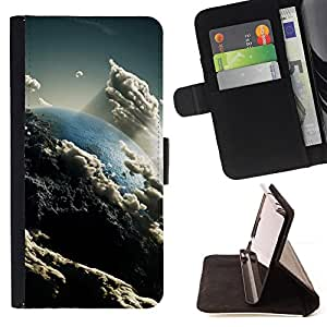 DEVIL CASE - FOR Samsung ALPHA G850 - Heaven Clouds Art Earth Sun Atmosphere - Style PU Leather Case Wallet Flip Stand Flap Closure Cover