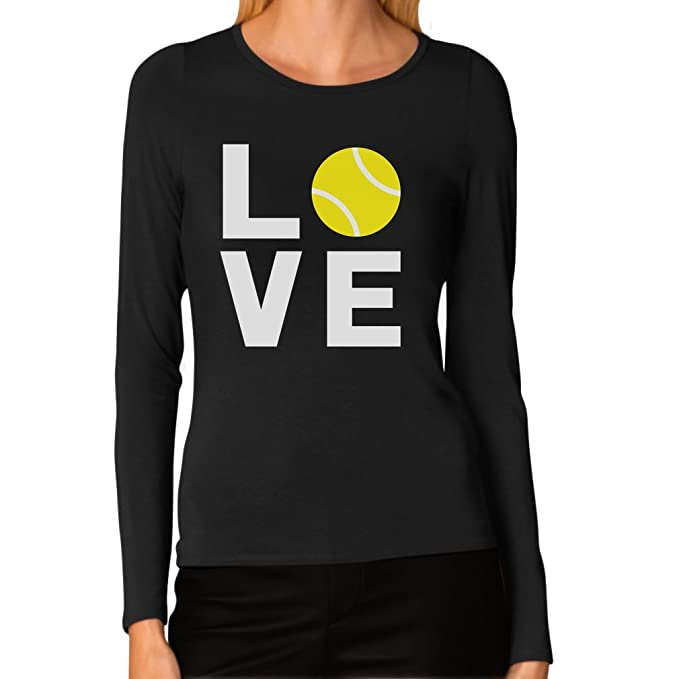 ef7b5152 Love Tennis - Gift Idea for Tennis Fans Cool Women Long Sleeve T-Shirt Small