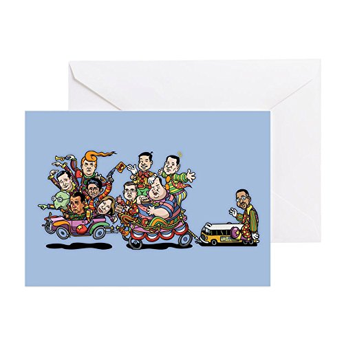 CafePress - GOP Clown Car 10-'15 - Greeting Card, Note Card with Blank Inside, Birthday Card or Special Occasion Matte