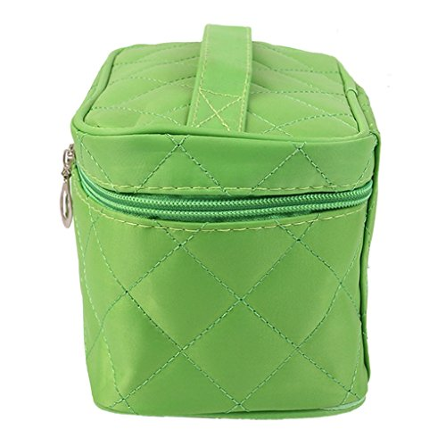 Hatop Fashionable Women Square Case Grain Of Pure Color Cosmetic Bag Travel Bags Makeup Bag (Green) - Replica Makeup