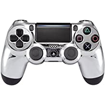 Silver Chrome PS4 Rapid Fire Modded Controller, Works With All Games, COD, Rapid Fire, Dropshot, Akimbo & More