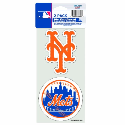 MLB New York Mets 2-Piece Die-Cut Decal, 4