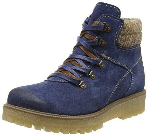 26272, Zapatillas Altas para Mujer, Azul (Denim Ant.Comb 815), 37 EU Marco Tozzi