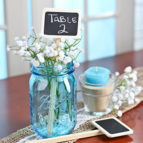 - Rustic Accents 24 Mini Wood Chalkboard Stakes for Wedding and Party Table Markers- Size: 2-3/4