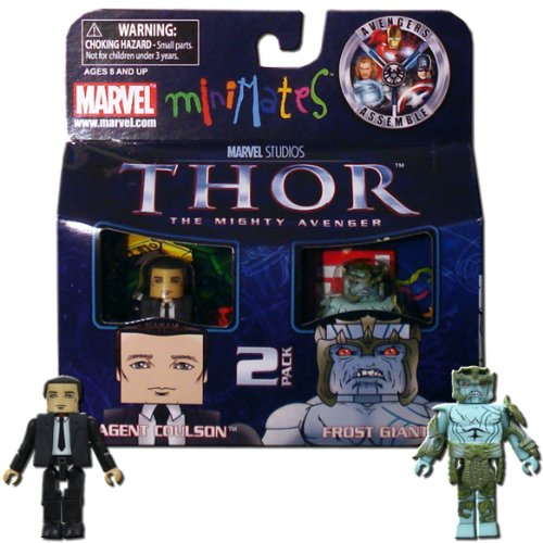 Giants Agent Series (Thor Movie Exclusive Minimates Mini Figure 2Pack Agent Culson Frost Giant)