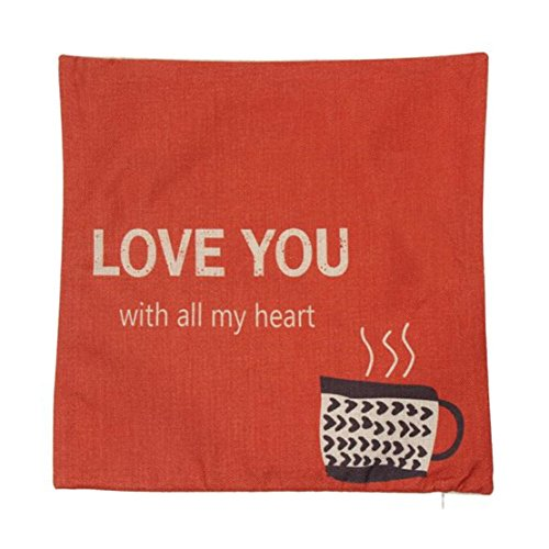❤Luca Word Line Pillow Case ❤ For Happy Halloween And Home Decor (B)