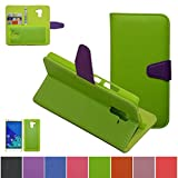 Huawei Honor 7 Case,Mama Mouth [DETACHABLE Feature] Folio Flip Hard Case [Stand View] Premium PU Leather [Wallet Case] With Built-in Media Stand ID Credit Card / Cash Slots and Inner Pocket Cover For Huawei Honor 7 Smartphone, Green