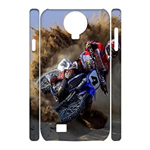 Fggcc Dirt Bike Case Cover for 3D SamSung Galaxy S4 I9500,Dirt Bike S4 Shell Case (pattern 1)