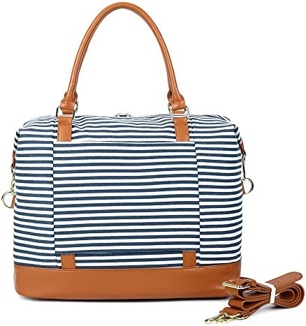 CAMTOP Women Ladies Travel Bag Canvas Weekend Overnight Carry On Tote Luggage Bags(Blue)