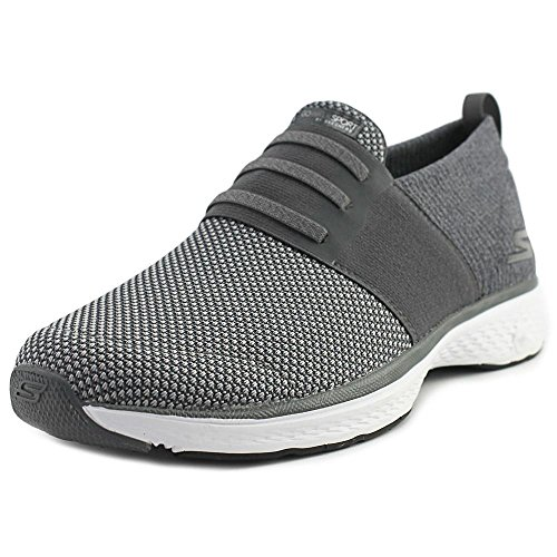 Skechers GOwalk Sport Grant Mens Grau Textil Training Slip auf einem Schuhe Holzkohle