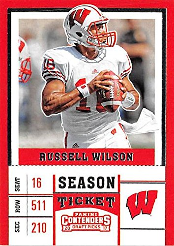 best website ebe1c e3921 Russell Wilson football card (Wisconsin Badgers NCAA College ...