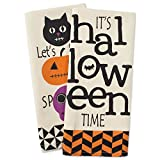 DII Cotton Halloween Holiday Dish Towels, 18x28 Set of 2, Decorative Oversized Kitchen Towels, Perfect Home and Kitchen Gift-All Hallows Eve