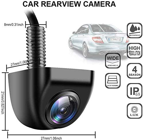Backup Camera for Car, IP 69K Waterproof Rear View Camera 170 Super Wide Angle Vehicle Reverse Camera HD Night Vision Universal Car Camera for Truck SUV RV Van