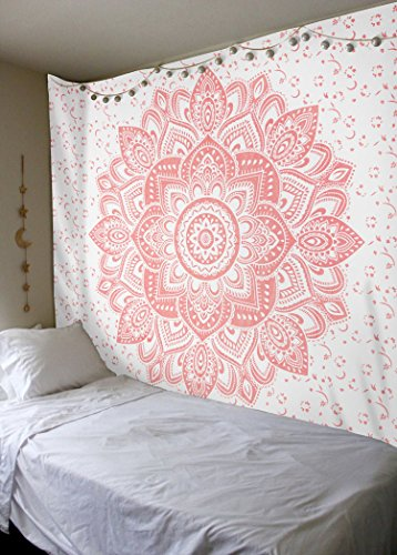 Mandala Gold Tapestries (Queen, Rose Gold) - Roses Tapestry