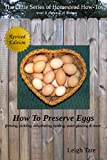 Have chickens? Ever wonder what to do with all those extra eggs? This little eBook shows you a number of ways to preserve them: freezing, pickling, dehydrating, larding, and water glassing. Also discusses shelf life, off-grid methods of preservation,...