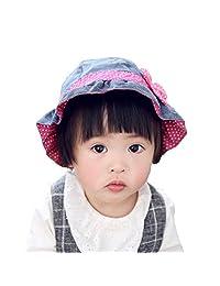 Cotton Bucket Hat Girls Baby Children Flower Ribbon Summer Sun Hat Fishermen Hat